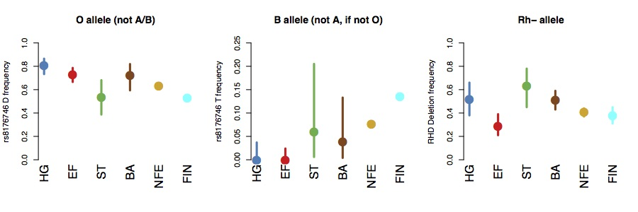 Allele frequency results